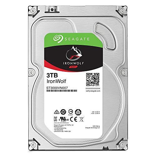 "Seagate IronWolf 3.5"" 3TB 内蔵ハードディスク HDD 3年保証 6Gb/s 64MB 5900rpm 24時間稼動 PC NAS向け ST3000VN007"