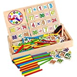 Fenteer Wooden Teaching Math Calculation Educational Toy Board Box for Kids,Easy to Use, Fun to Play