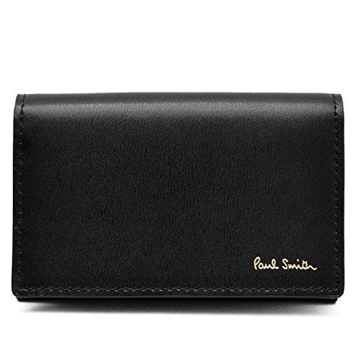 ポールスミス Paul Smith 正規品 本革 シティエンボス 名刺入れ ブラック ショップバッグ付 カードケース (ブラック)