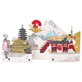 サンリオ クリスマスカード 和風 レーザーカット 世界遺産  S6034