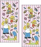 丸眞 フェイスタオル 2枚セット The Simpsons ザ・シンプソンズ 34×75cm ファニーファミリー 綿10…