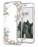 【Spigen】 iPhone8 ケース / iPhone7 ケース, [ TPU ケース ] [ Qi 充電 対応 ] [ 超薄型 超軽量 ] リキッド・クリスタル アイフォン 8 / 7 用 カバー (iPhone8 / iPhone7, シャイン・ブロッサム)