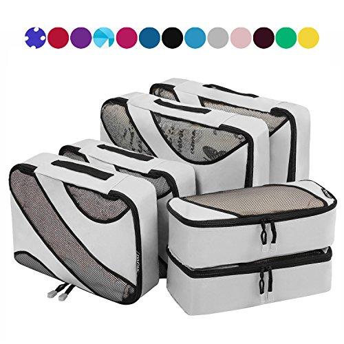 6セットパッキングキューブ 3サイズ旅行カバンパッキングオーガナイザー グレー