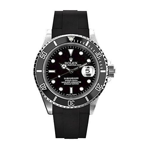[ラバービー] RubberB ラバーベルト ROLEXサブマリーナ セラミック専用ラバーベルト(ROLEX純正バックルを使用)(ブラック)(サイズ:L)※時計は付属しません(Watch is not included)[並行輸入品]