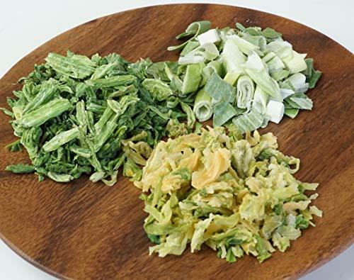 アスザックフーズ 乾燥野菜3種セット (キャベツ100g・ほうれん草15g・ねぎ12g) [24571]