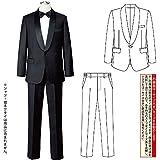 メンズ タキシード スーツ 黒 フォーマル ジャケット パンツ コーラス JP-MST001-3384 ショールカラー ステージ 衣装 (L)
