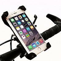 (バイクサプライヤー) スマホホルダー バイクホルダー 自転車 スマホスタンド iPhone固定 バイクバーマウント 360度回転 厚さ調整パッド付属