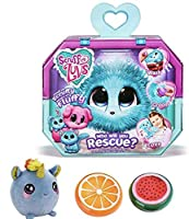 Gift Bundle Little Live Scruff-A-Luvs (Aqua) with 3.5 Squishamals and Magic Crystal Slime - By Simple Joy