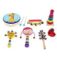 Baosity 全6種類 楽器おもちゃ バンドキット パーカッションセット - 7個-2