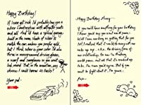 Quiplip Handwritten Yours Truly Birthday Cards 6-Pack (YT06096PCK) [並行輸入品]