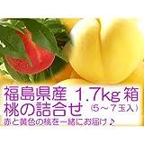 黄金桃と特秀品桃の詰合せ 『1.7kg箱 (5〜7玉入) 』