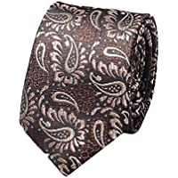 RkBaoye Mens Polyester Silk Floral Printed More Choice Textured Necktie Tie