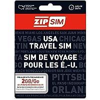 ZIP SIM データ通信(2GB、30日間)アメリカ用プリペイドSIM (※旧名称 READY SIM 2016年4月より商品名・パッケージが変更となりました)