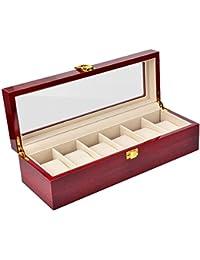 木製 腕時計 収納 ボックス 6本用 ウォッチ収納 おしゃれ リストウォッチ 収納ケース ピアノラッカー 高級 コレクション ケース 箱 ディスプレイ 観賞用 クリーニングクロス付き