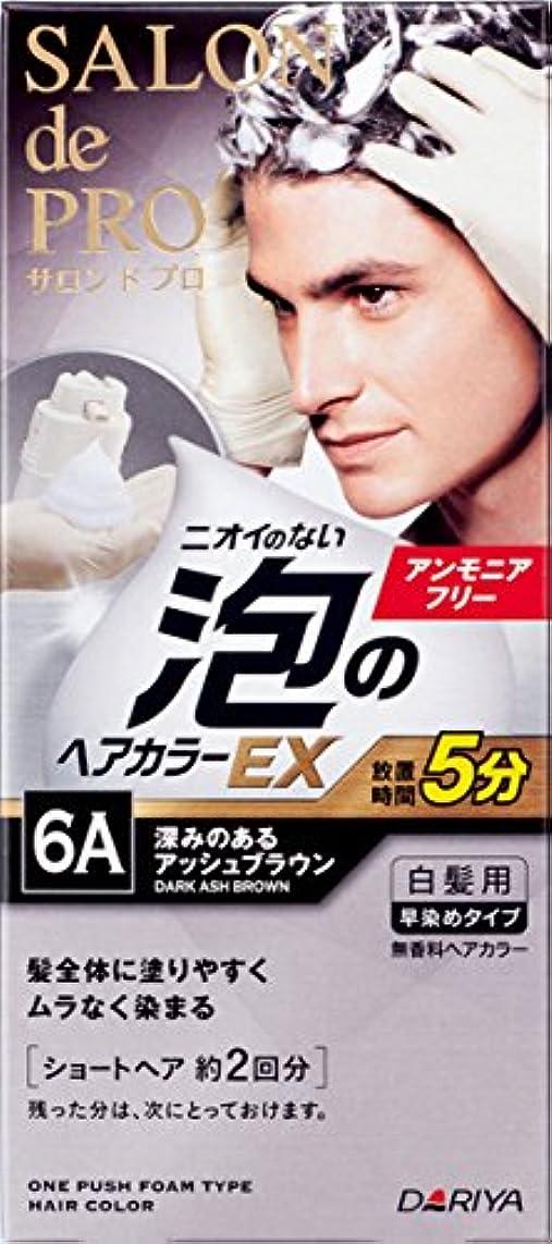 寛容バブル割合サロン ド プロ 泡のヘアカラーEX メンズスピーディ (白髪用) 6A <深みのあるアッシュブラウン> 1剤:40g+2剤:40g [医薬部外品]