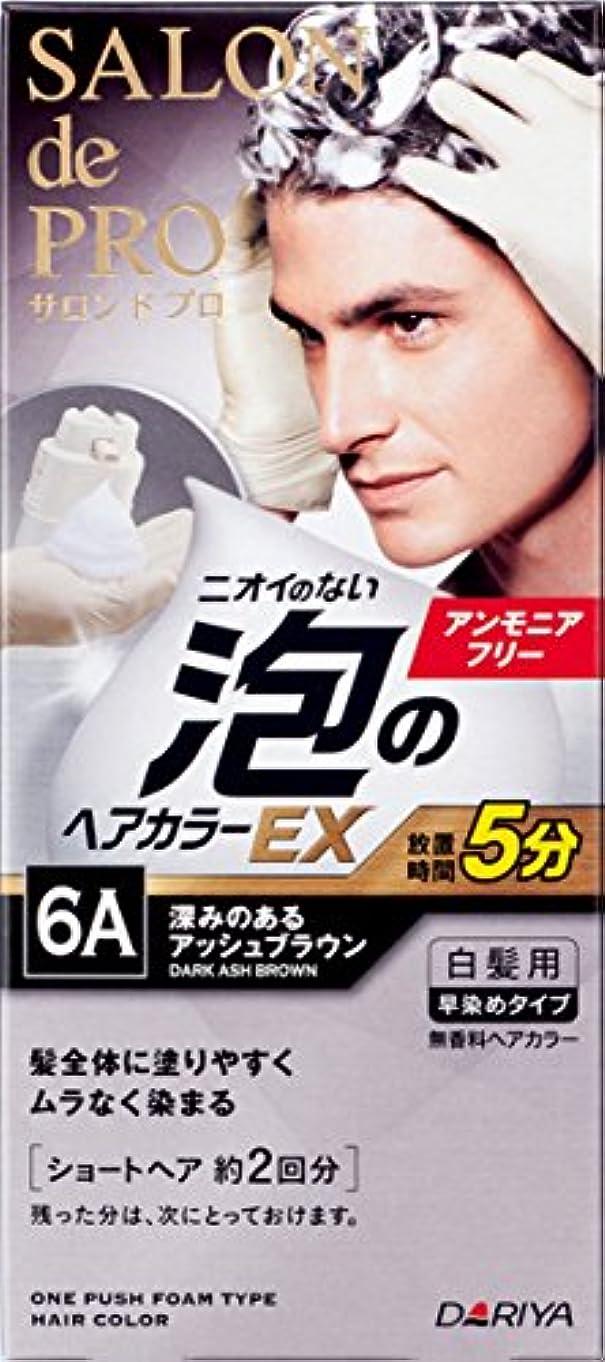 ヒギンズ助手高音サロン ド プロ 泡のヘアカラーEX メンズスピーディ (白髪用) 6A <深みのあるアッシュブラウン> 1剤:40g+2剤:40g [医薬部外品]
