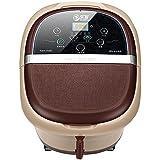HUOFEI NIAO 足浴槽自動深いバレル加熱マッサージ足浴槽洗面器 (色 : Brown)