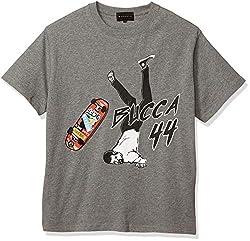 [ブッカフォーティーフォー] スケボープリント メンズ カット半袖 Tシャツ XXL 杢グレー