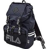 (フィラ)FILA ブランド ロゴ ダブルベルト リュック ロゴテープ ネイビー