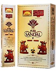 Parimal Sacred Scents PureサンダルIncense Sticks 30グラムパック、6カウントin aボックス