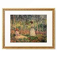 クロード・モネ Claude Monet 「Suzanne lisant et Blanche peignant」 額装アート作品