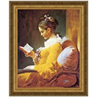 """デザイントスカーノA Young Girl Reading 38"""" x 46"""" DA1814"""