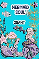 Mermaid Soul Grant: Wide Ruled | Composition Book | Diary | Lined Journal