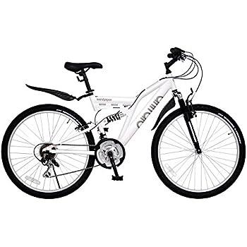 ANIMATO(アニマート) フルサスペンション マウンテンバイク SANDPIPER (サンドパイパー) 26インチ アルミフレーム ホワイト シマノ18段変速 A-6