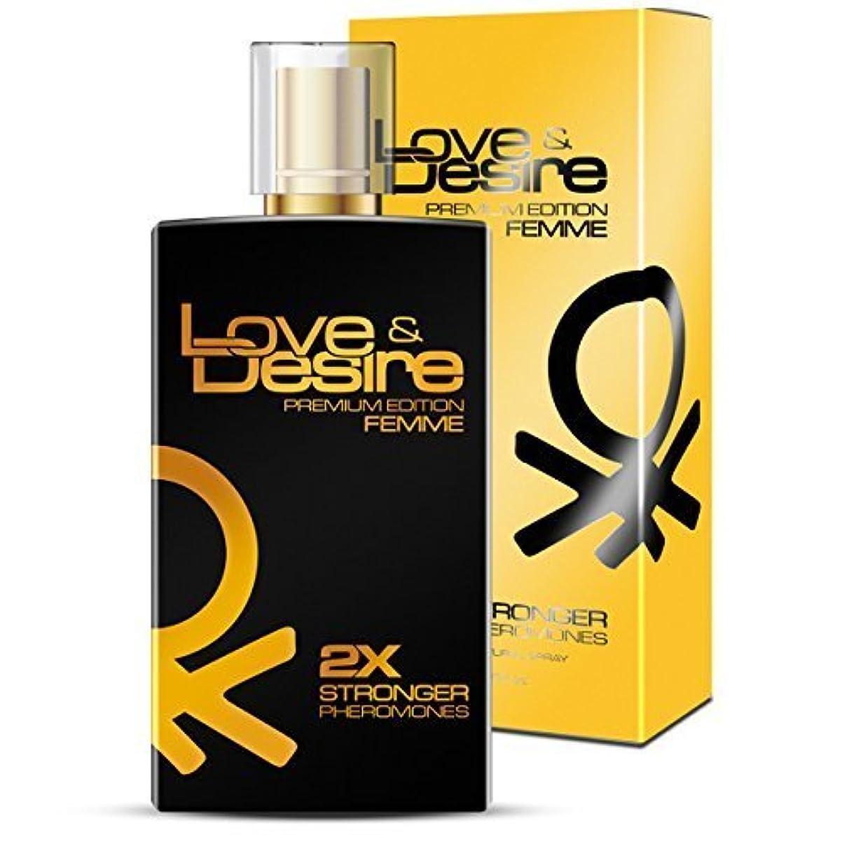 舗装謝罪する豆Love&Desire PREMIUM 女性用フェロモン100ml 1香水中4フェロモン