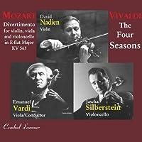 Mozart: Divertimento for Violin, Viola, and Violincello in E-Flat Major, KV 563 / Vivaldi: The Four Seasons by David Nadien (2007-07-24)