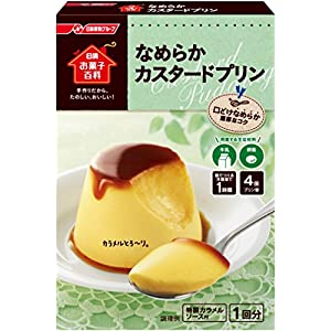 日清 お菓子百科 なめらかカスタードプリン 55g