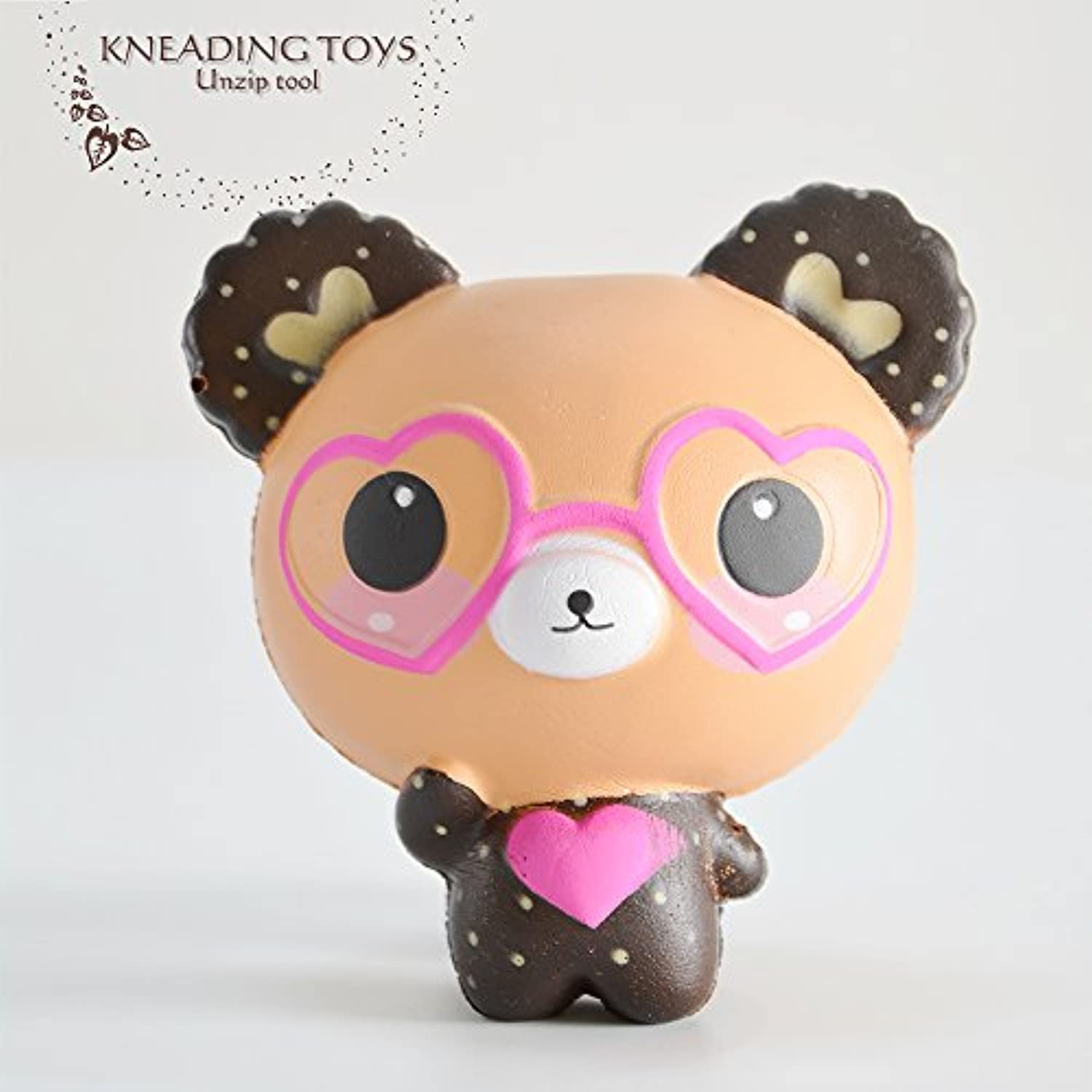 vcostore Squishies Slow RisingジャンボKawaii Cute Glasses Bearクリーミー香りfor KidsパーティーおもちゃStress Reliever Toy