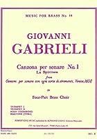 ガブリエリ : カンツォーナ・ペル・ソナーレ 第一番 (金管四重奏) ルデュック出版