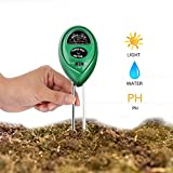 Lovebay 多機能土壌 pH 測定器 デジタル土壌酸度計 pH・水分・照度測定器 3 in 1 高精度 電池不要 農業 栽培 室内室外適用