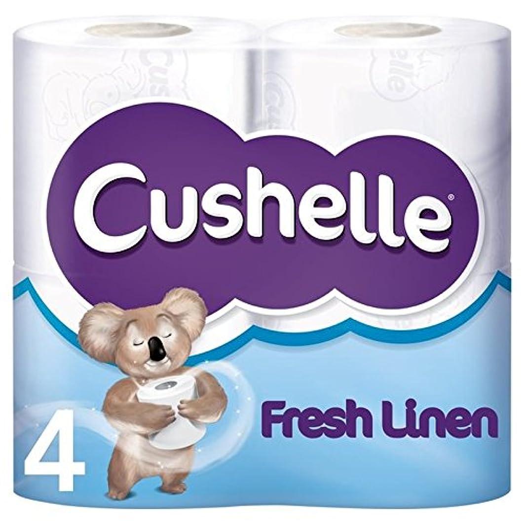 騒々しい肉の調停するパックごとの新鮮なリネンの香りのトイレットペーパー4 x4 - Cushelle Fresh Linen Scented Toilet Rolls 4 per pack (Pack of 4) [並行輸入品]