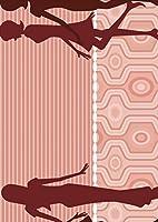ポスター ウォールステッカー シール式ステッカー 飾り 210×297㎜ A4 写真 フォト 壁 インテリア おしゃれ 剥がせる wall sticker poster pa4wsxxxxx-007231-ds クール 人物 ピンク