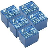 HWMATE DC 3V 10Aパワーリレー PCBマウント 5ピン変換タイプ(5パック)