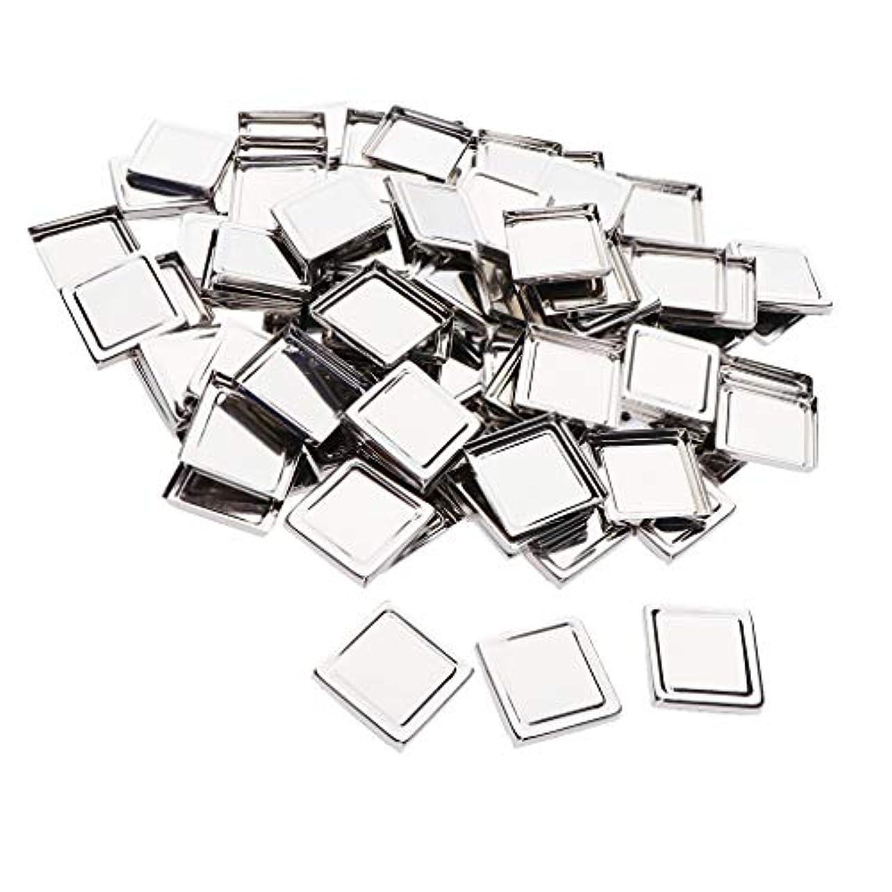 キャプテンブライ短くする科学的B Baosity 約100個 メイクアップパン 化粧パレット DIY 旅行小物 金属製 3タイプ選べ - 平方