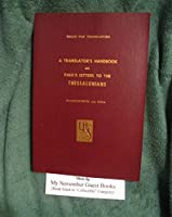 Translators Handbook of Paul's Letter to the Thessalonians