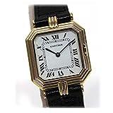 [カルティエ]Cartier サンチュールLM トリニティ メンズ腕時計 クォーツ K18×クロコ革ベルト [中古]