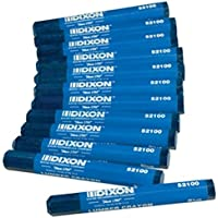 Dixon 52100 Lumber Marking Crayons Blue 4-1/2 x 1/2 Hex Pack of 12 [並行輸入品]