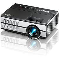 EUG ミニledプロジェクター HD 1080P 960*640解像度 1500明るさ 1500:1 HDMI USB スマホ ホームシアター