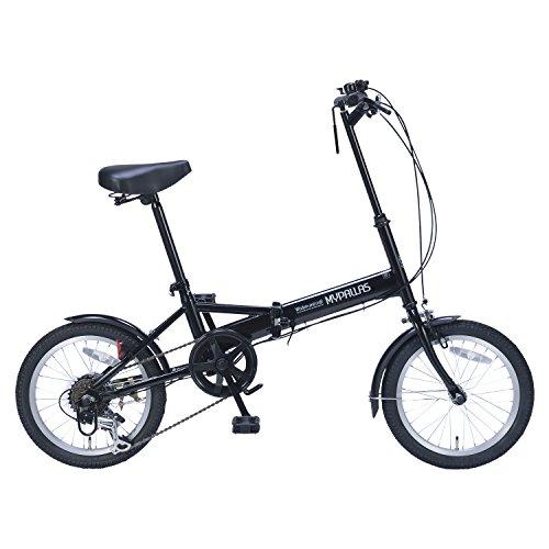 My Pallas(マイパラス) 折りたたみ自転車 M-102 16インチ 6段変速 ブラック