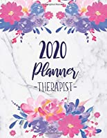 2020 Therapist Planner: Daily Appointment Planner With 15 Minute Increment | Monthly Goal Setting | Contacts | Password Organizer