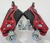 (スリーボックス)ThreeBox バイク用 サイドミラー バックミラー ニュースタイル 五角形 レッド 赤