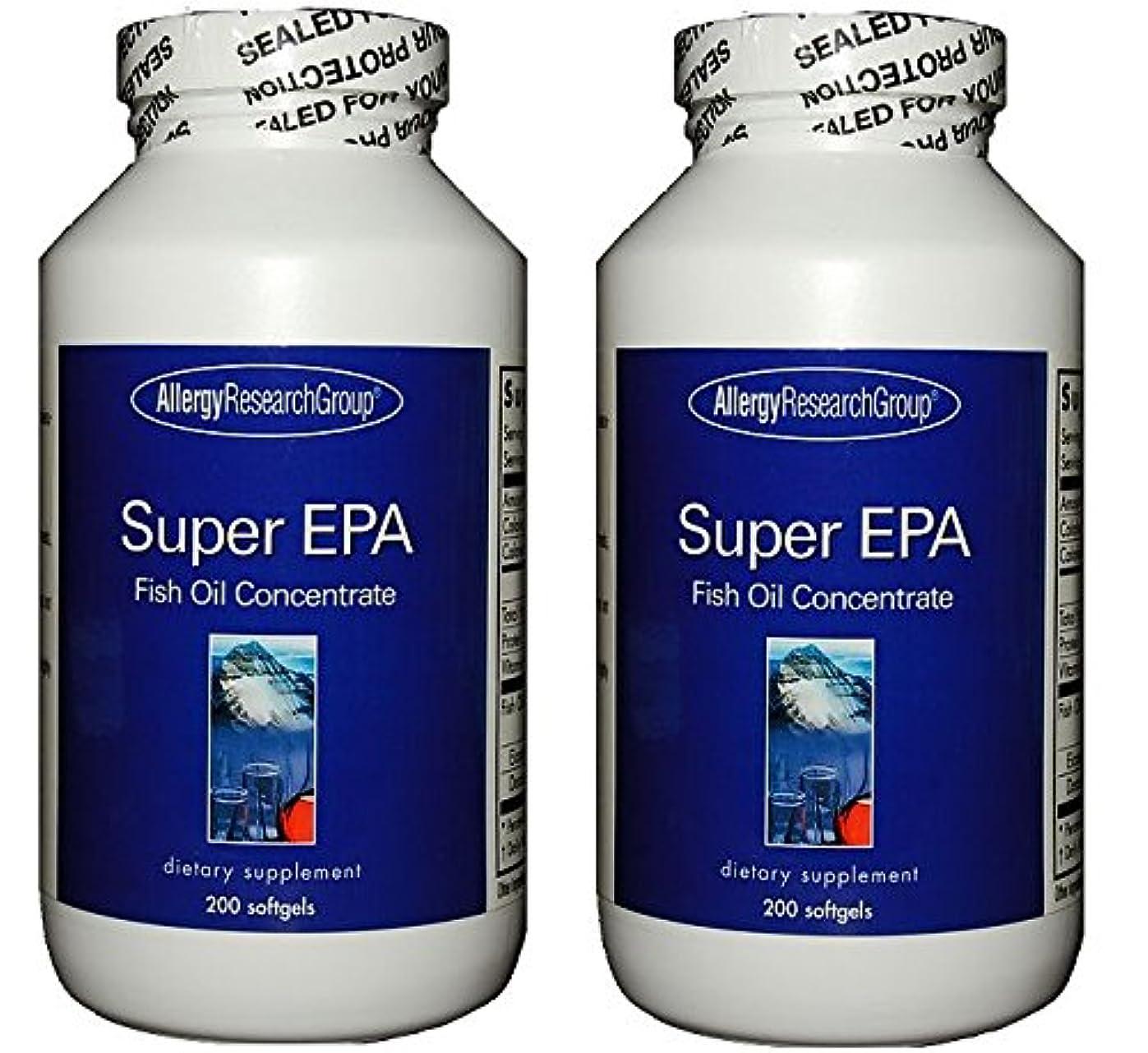 留まるブロックする気づかないスーパーEPA & DHA  200ソフトカプセル (Super EPA Fish Oil Concentrate 200 softgels) [海外直送品] 2ボトル