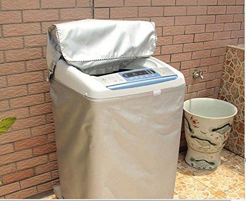 DEWEL  洗濯機カバー 屋外 防水 紫外線 ファスナー開...