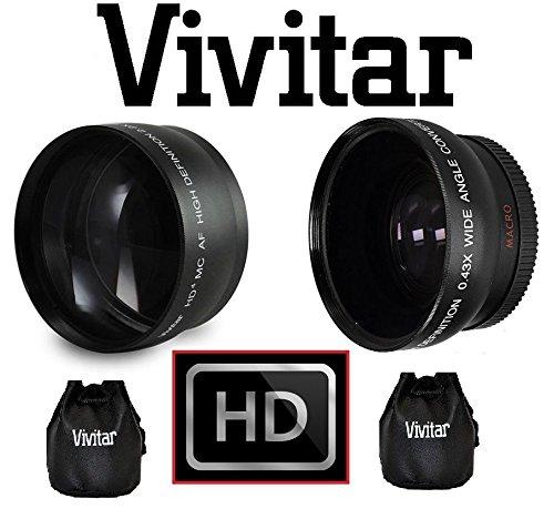 2-pc Hi Defレンズキット望遠広角レンズセットfor Nikon j1V1v2j2j3s1