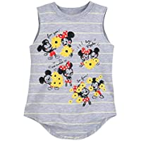 Disney Mickey and Minnie Mouse Striped Tank Top for Girls