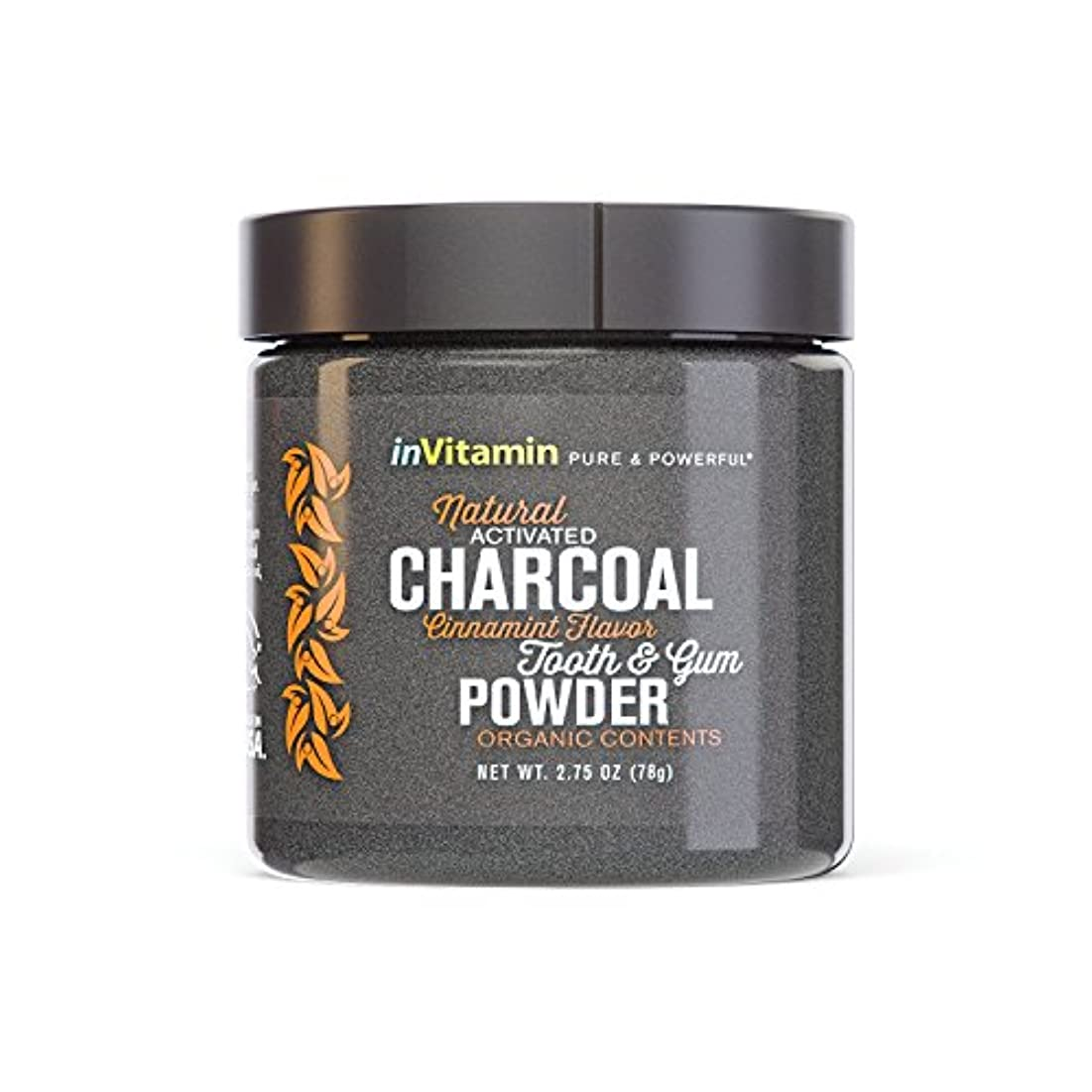 歯磨き粉 Natural Tooth & Gum Powder with Activated Charcoal (海外直送)